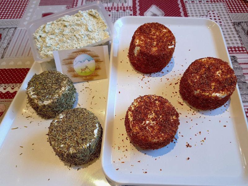 Fromages de chèvre aromatisés