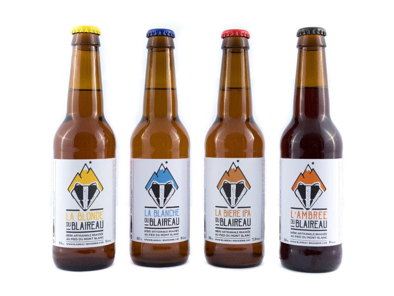 Nos quatre bières Blonde, Ambrée, Blanche, IPA