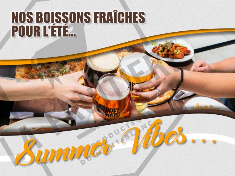 Nos boissons de l'été